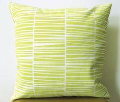 "Handprinted Pillow Organic Cotton Lemon Yellow Zebraria Cushion 20 x 20"". €38.00, via Etsy. handprint pillow, pillow organ, cushion covers, cushion 20, cotton lemon, lemon yellow"