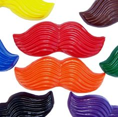Mustache crayons for Mario birthday party favors $8