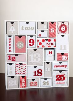 Silhouette advent calendar one day, christmas countdown, red, christmas calendar diy, christmas calendars, christma idea, papers, holiday craftsdecorfood, christmas advent calendars