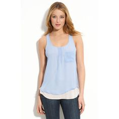 Eclair Layered Pintuck Tank, two piece, nordstrom.com, $48