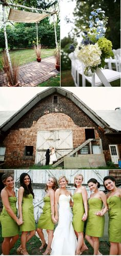 great wedding photos... barn wedding