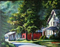 """8"""" x 10"""" Oil on canvas, Country Road in summer #teamsellit"""