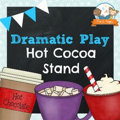 Dramatic Play Hot Chocolate Stand Printable Kit