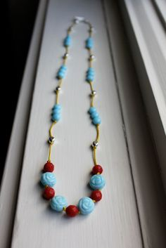 knotted bead necklace ♥