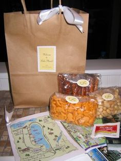 Welcome bags for out of town guests - think wedding, reunions...