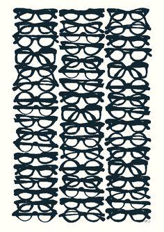 Glasses by Maria Hatling #Illustration #Fine_Art_Print #Maria_Hatling