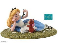 *ALICE ~ WDCC Disney Classics_Alice In Wonderland Alice And Dinah Riverbank Reverie