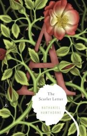 """A is for """"adore"""" this cover for the Modern Library edition of Hawthorne's """"The Scarlet Letter."""""""