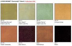 stain color, color charts, color theme, acid stain, color option, stain concret, concret color