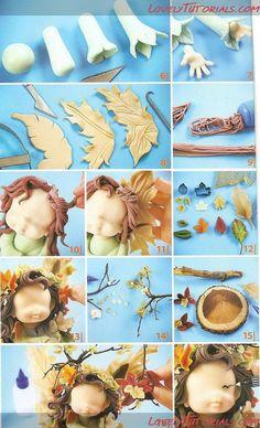fairies in sugar paste diy