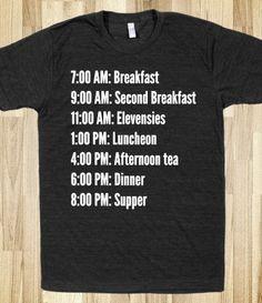 Hobbit meal plan t-shirt