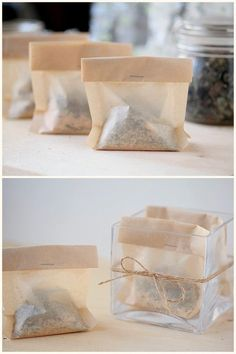 DIY: soothing herbal bath tea  Why have I never thought to bathe in tea? I love it that much.