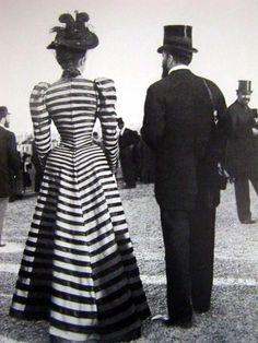 Turn of the century striped ensemble