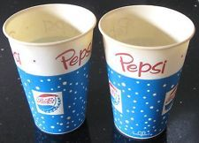 Pepsi Cola Vintage Paper Soda Pop Cups 1950 's
