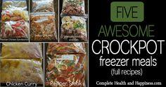 Five awesome crockpot freezer meals!