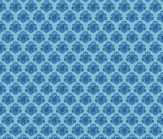 TARDamask fabric dark fabric by travale on Spoonflower - custom fabric