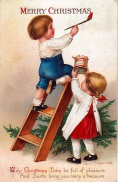 Vintage Christmas Card crafts