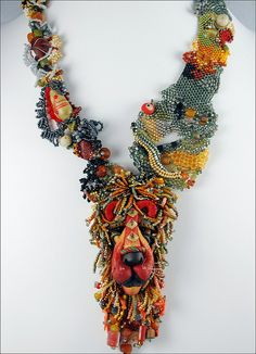 Art necklace by Beadazzled of Oregon