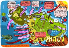 Maui Wedding Map illustrated by Aaron Meshon