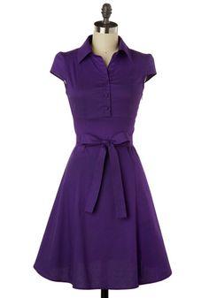 Soda Fountain Dress in Grape - Love this!!