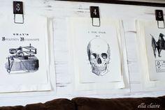Free Black and White Halloween Printables