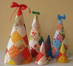 patchwork christma, tree softi, christma tree, christma craft, christmas trees