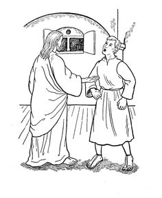 St. Thomas the Apostle (Doubting Thomas) Catholic Coloring Page Feast day is July 3