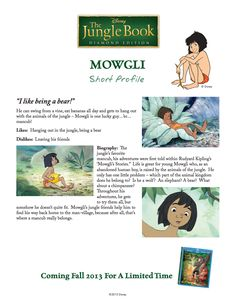 The Jungle Book Character Profiles. #BareNecessities