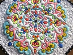"""Detail Mandala Quilt #2"" by mamacjt, via Flickr paint quilt, mandala quilt, detail mandala"