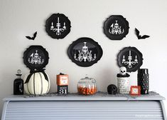 Halloween decor via @iheartnaptime halloween parties, halloween stuff, craft, halloween decor, halloween costumes, halloween halloween, idea collect, parti idea, costume halloween