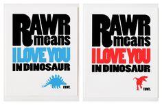 so cute! jessica sutton dinosaur prints