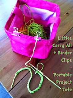 Great way to keep a project ready & yarn untangled, kid safe and portable too!