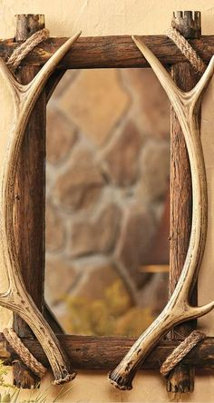 Antler & Wood Mirror