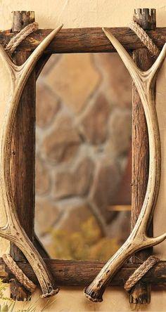 Antler & Wood Mirror