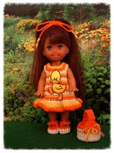 "Kelly Doll - Handmade Crocheted Clothes ""A Little Duck"""