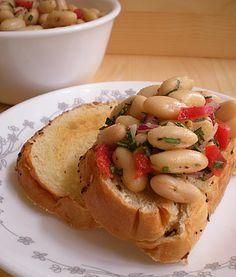 White Bean And Rosemary Bruschetta