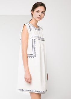 ethnic embroidery dress