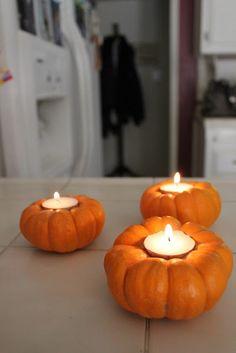 pumpkin tea, diy pumpkin, tea lights
