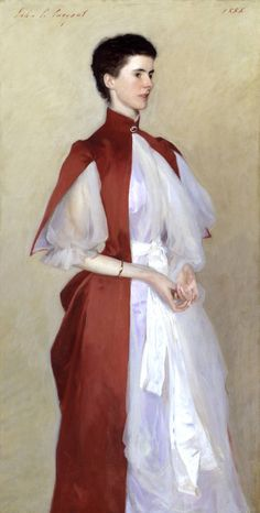 Mrs. Robert Harrison by John Singer Sargent. I love how he captures the decadence of turn of the century fashion.