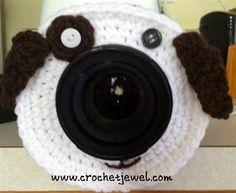 A great free crochet pattern to make kids smile. Camera Puppy Pal - Media - Crochet Me