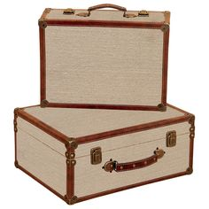 2 Piece Benton Suitcase Décor Set » Would make a nice set design for photographs.