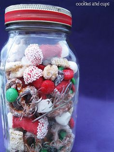 Fun holiday twist on Chex mix!