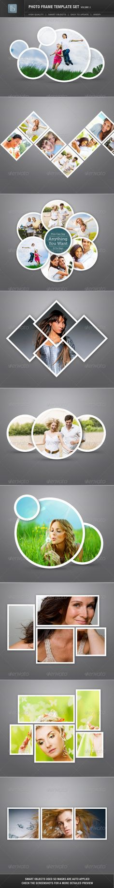 Great photo frame template set