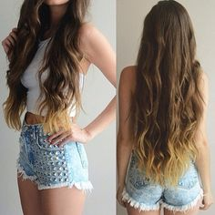 Super Long Hair in Different Colors with Great Length Hair Extensions this Autumn brown ombre wavy hair trends brown ombre hair color