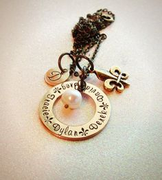 Hand+Stamped+Bronze/Gold+Open+circle+washer+by+GabbieGoodies,+$25.00