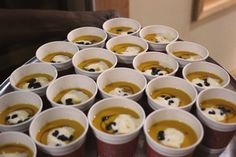 Hugh Acheson's Sweet Potato soup with maple whipped cream and currants perfect soup for winter!