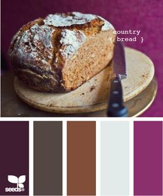 country bread - this is my choice of colour for the large bedroom. Already have the brown but I want to add to that. bathroom design, living rooms, country bedroom colors, color palettes, design seeds, countri bread, color schemes, bedroom design, breads