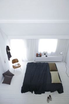 Simple and White Bedroom Interior