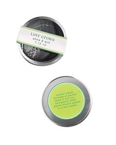 Seed Tin Favor Labels