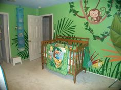 Jungle Bedroom Wall Mural for Kids